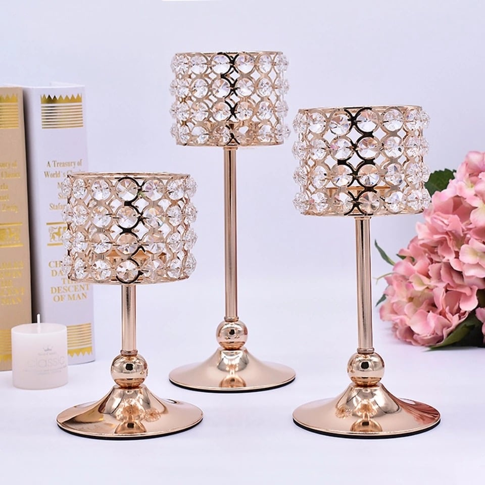 party gear 3 pieces centerpieces decoration with candle