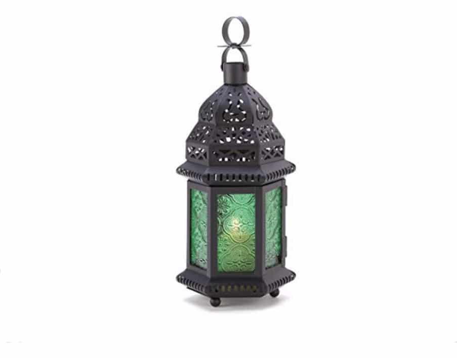 party gear mehndi green lantern decoration