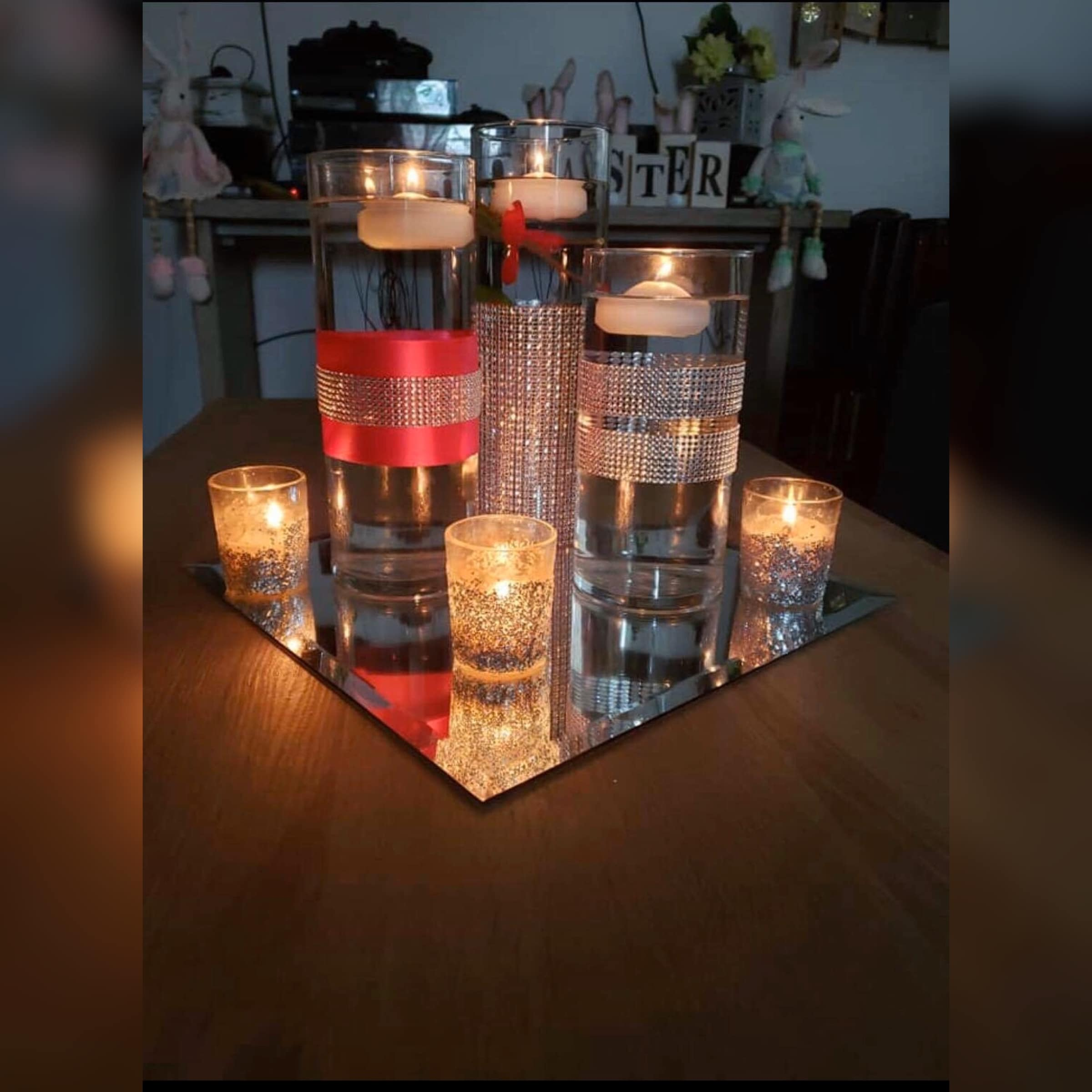party gear centerpieces decorate with candle